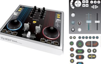 Mixing console - Free vector #177331