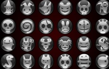 Halloween icons - Free vector #177511