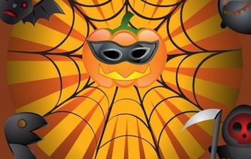 Vector Flyer on Halloween - vector gratuit #177531