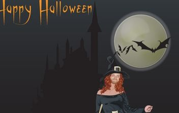 Halloween witch free vector - vector gratuit #177571