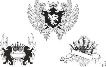 Heraldry Fashion Tshirt Designs - бесплатный vector #177631