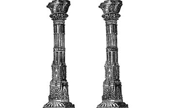 Ancient Temple Columns - vector gratuit #177671