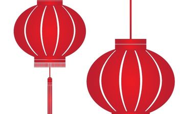 Red Lantern - Free vector #177701