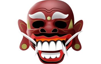traditional balinese mask - Free vector #177971