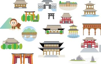Japanese Structure - vector gratuit #178001