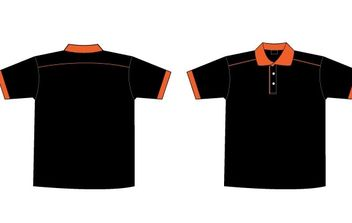 Free Black & Orange Collar T-Shirt Template - Kostenloses vector #178061