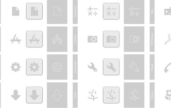 Grey Icons - vector gratuit #178121