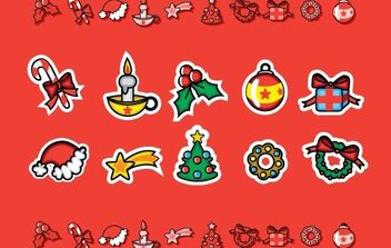 Cute Christmas Candies - Free vector #178181