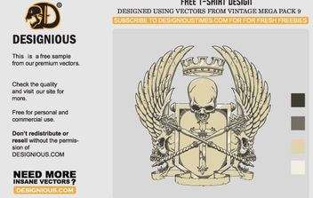 Crest T-Shirt Design - vector gratuit #178261