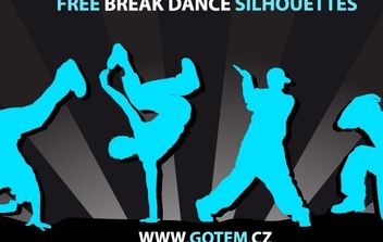 Breakdance Silhouettes - Free vector #178321