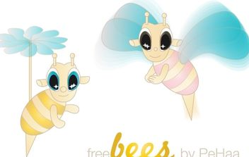 Free Bees Vector Characters - Kostenloses vector #178341