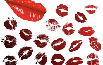 Vector Lips Kiss - vector gratuit #178361