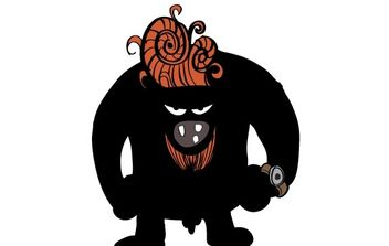 Blackman monster - vector gratuit #178401