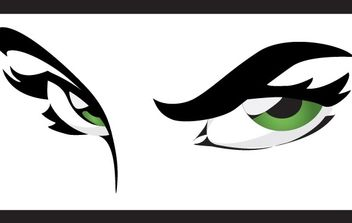 Green Eyes - vector gratuit #178421