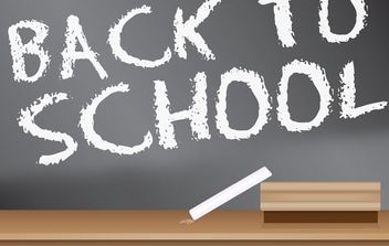 Back to School Blackboard Sign design - vector gratuit #178451