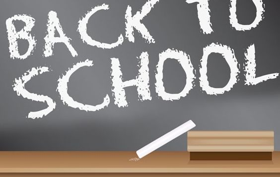 Back to School Blackboard Sign design - бесплатный vector #178451