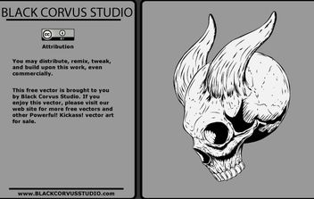 Skull with Horns - Free vector #178511