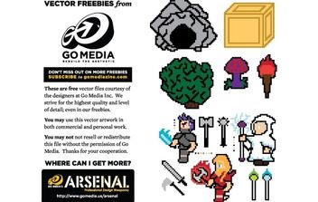 8-bit Vector Freebies - Free vector #178531