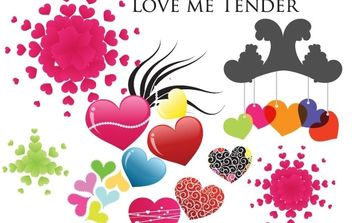 Tender love hearts - Free vector #178621