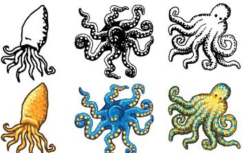 Octopus Design Vectors- Free - бесплатный vector #178671