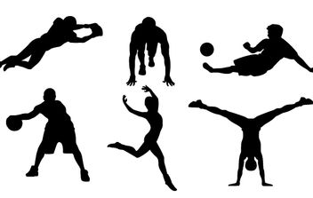 9 FREE SPORTS VECTOR SILHOUETTES - бесплатный vector #178731