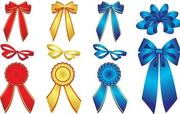 15 free vector ribbons - vector gratuit #178751