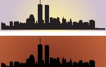 Skyline US NewYork City Vectors - бесплатный vector #178791