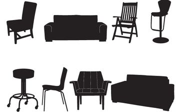 Take A Seat Vector Pack - vector gratuit #178821