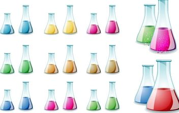 Glass Lab Bottle Vector - бесплатный vector #178841