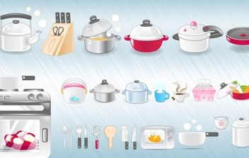 Kitchen Icons - vector gratuit #178871