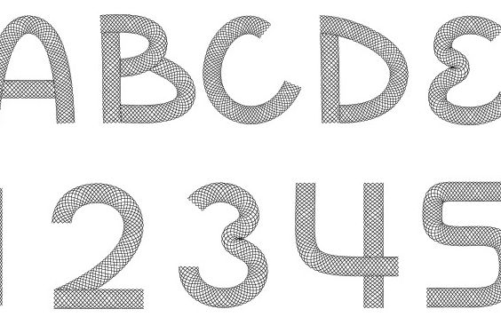 Wire Font - Free vector #178961
