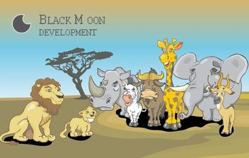 Free vector african animals set - Free vector #179151