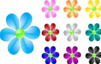 Glass Flowers - vector #179161 gratis