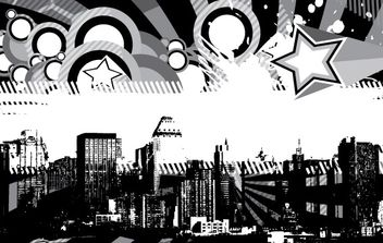City Skyline - vector gratuit #179211