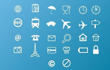 Free Vector Icons Pack - vector gratuit #179301