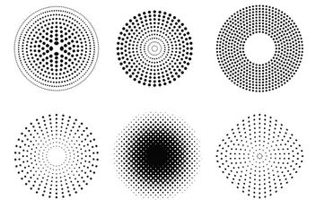 Vector Dots and Halftone Pattern - Kostenloses vector #179321