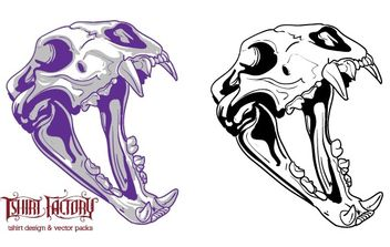 Animal skull - vector gratuit #179341