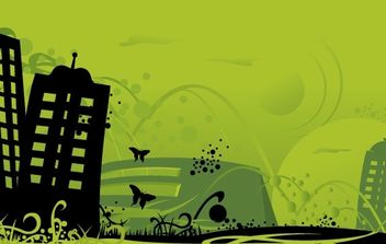 Green City Art - vector gratuit #179451