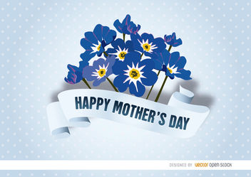 Mother's Day myosotis ribbon - Free vector #179501