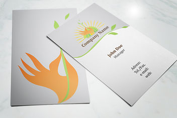 Front & Back Ecology Business Card - Free vector #179591
