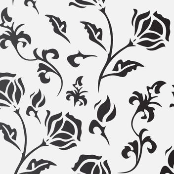 Flat Seamless Flourish Pattern - vector gratuit #179621