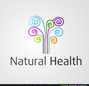 Natural Health Colorful Swirls - Free vector #179651