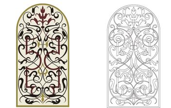 Marquetry ornament - vector #179671 gratis