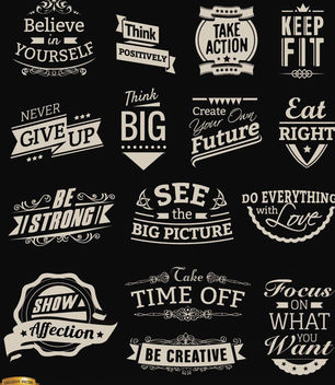 Motivational Vintage badges - vector gratuit #179751