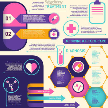 Health & Medical Colorful Infographic - vector gratuit #179781