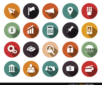 20 financial circle icons - vector #179791 gratis