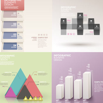 Classic Style Light Colored Infographic Set - Free vector #179831