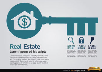 Real estate key infographics - vector #179841 gratis