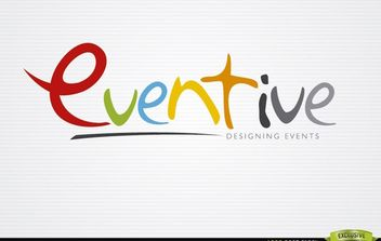 Eventive Colorful Design Logo Template - vector gratuit #179931