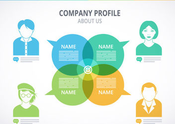 About Us Company Profile Mockup - vector gratuit #179941